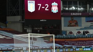 Videomarcador del Villa Park después del Aston Villa Liverpool de la jornada 4