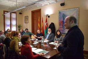 Lalcalde de Viladecans, Carlos Ruiz, presideix lúltima trobada delscincmunicipis promotors del projecte JUSUR.