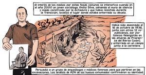 Viñeta de la adaptación al cómic de La guerra civil española, de Paul Preston, por el dibujante José Pablo García.
