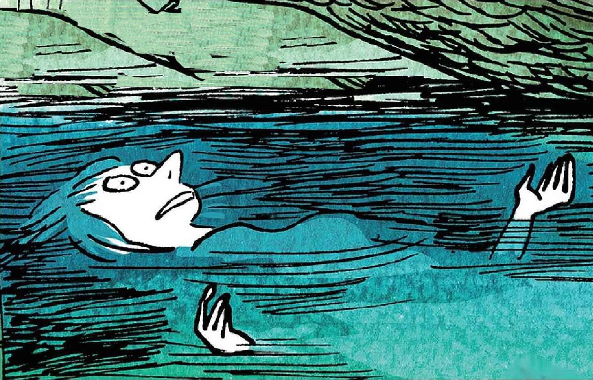 Viñeta de La levedad, el cómic en el que Catherine Meurisse exorciza el trauma de la masacre de Charlie Hebdo, de la que se libró de milagro.