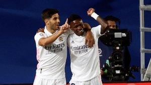 Vinicius celebra el tanto de la victoria