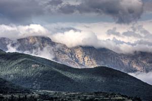 Vista de la sierra del Cadí desde la Cerdanya.