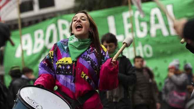 La votación del aborto en Argentina.
