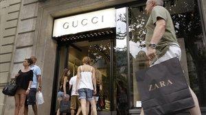 Tienda de Gucci en el paseo de Gràcia.
