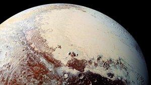 Vista de Plutón captada por la misión 'New Horizons' de la NASA
