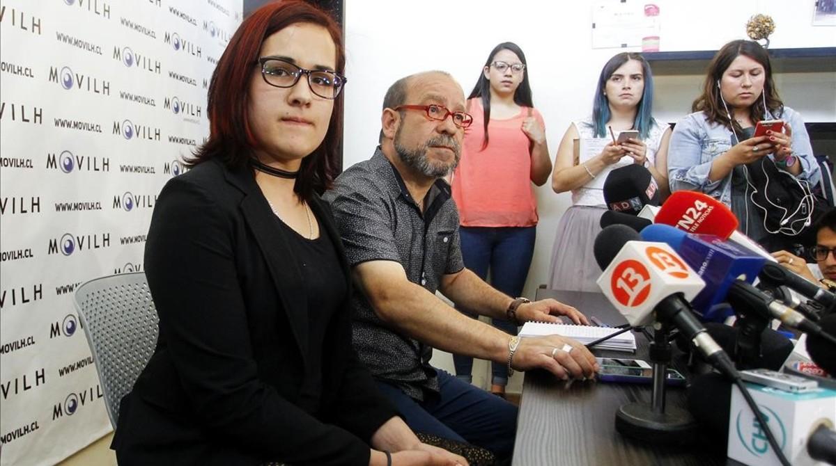 Carla González Aranda, durante su presentación en Chile.