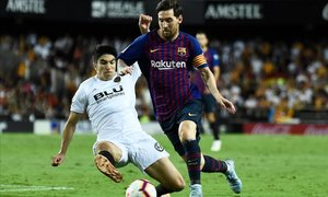 Lionel Messi en el Barça-Valencia, del 7 octubre de 2018