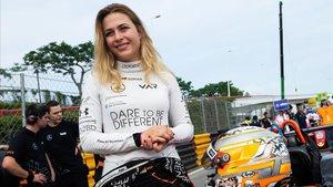 La piloto de fórmula 3 Sophia Floersch, en víspera del Gran Premio de Macao.