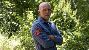 Josep Pallàs, bombero de los GRAF, el viernes 5 de julio en La Pobla de Segur.