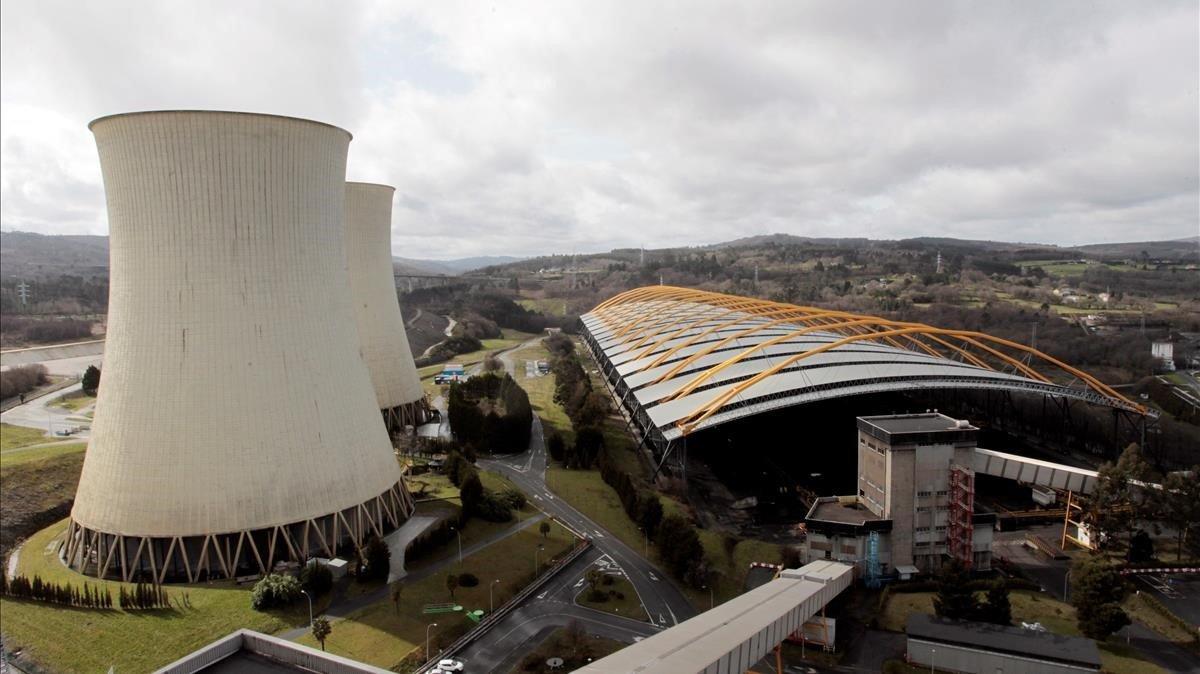 Central térmica de As Ponte, en A Coruña, el diciembre pasado.