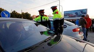 Una conductora mor en un xoc múltiple a Vilanova i la Geltrú