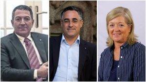 Los nuevos 'consellers'Miquel Sàmper(Interior), Ramon Tremosa(Empresa i Coneixement) yÀngels Ponsa(Cultura).