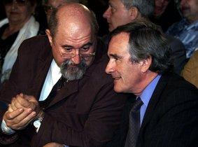 Imagen de Archivo de Igansi Farreres, a la izquierda, con Xavier Trias.