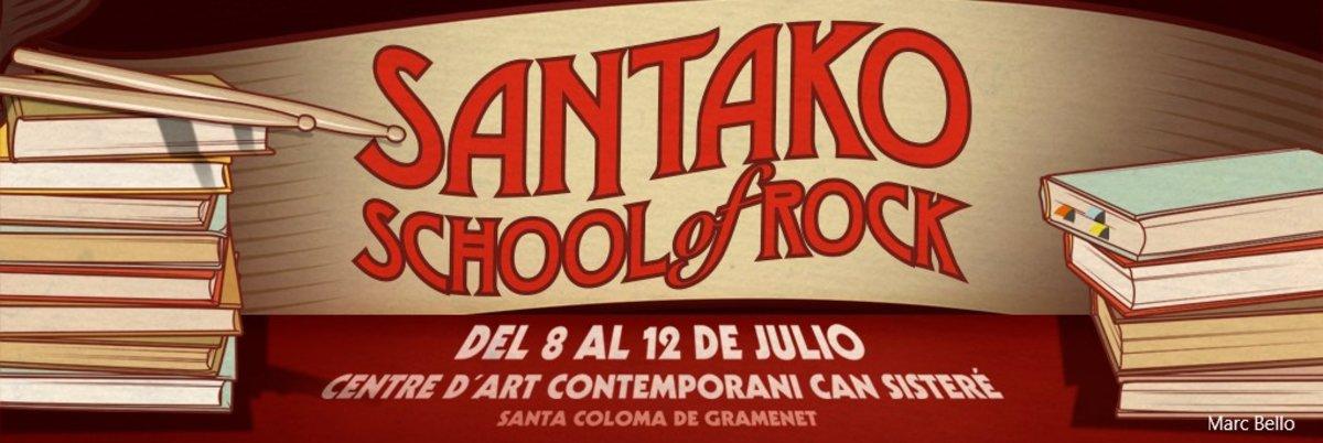 Cartel de la primera edición de la Escuela Universitaria de Verano de Santa Coloma.