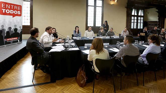 Entre Tots. Deu lectors dEL PERIÓDICO conversen amb Oriol Junqueras sobre qüestions dactualitat política.