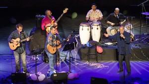 Actuación de Sabor de Gràcia, la noche del martes en el Teatre Grec, en la gala Rumberos, pugin a lescenari!.