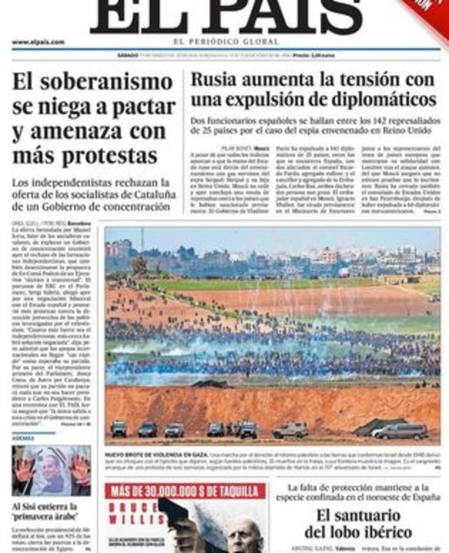 Prensa hoy el soberanismo se niega a pactar y amenaza for Noticias actuales de espectaculos