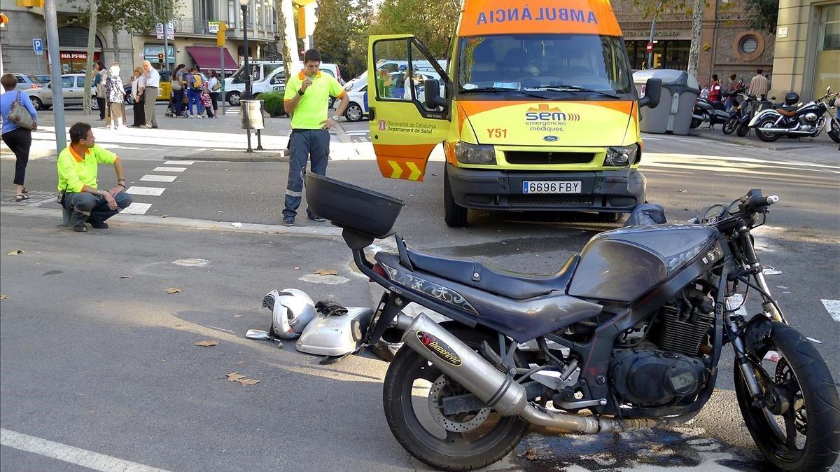Accidente en Barcelonaen septiembre del 2011.