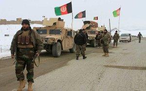 Tropas del ejército de Afganistán.