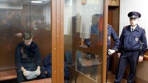 Escena del juicio a Kokorin y Mamaev celebrado en Moscú en noviembre del 2018.
