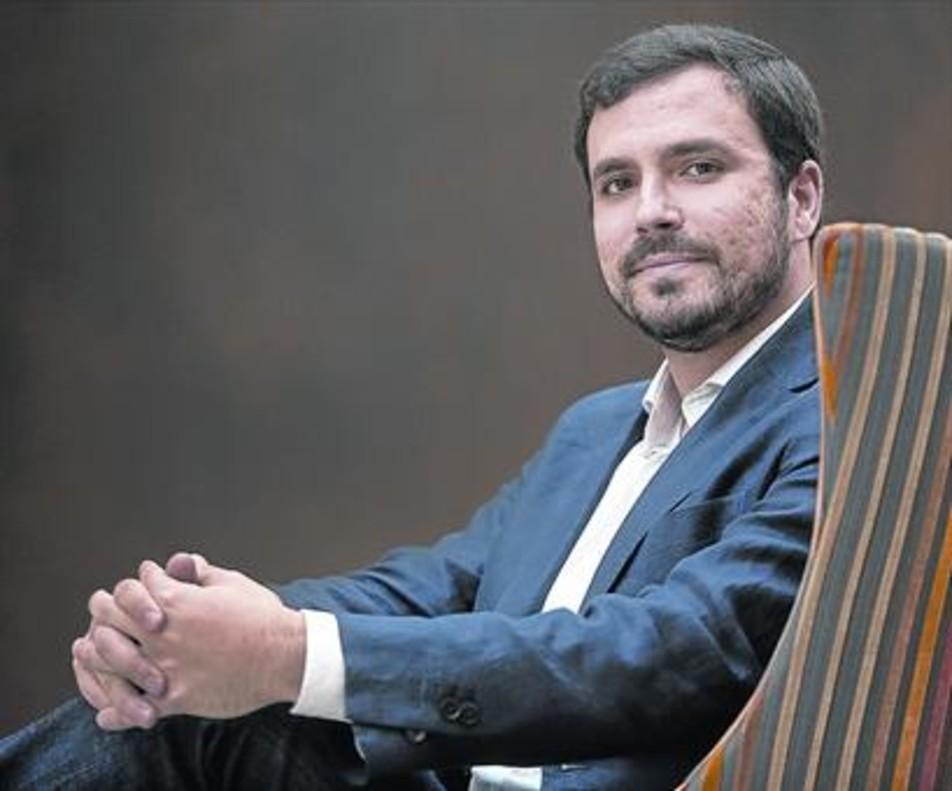 Alberto Garzón, en el Congreso de los Diputados, el pasado martes.