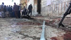 Ataque suicida a un centro de registro de votantes en Kabul, Afganistán.