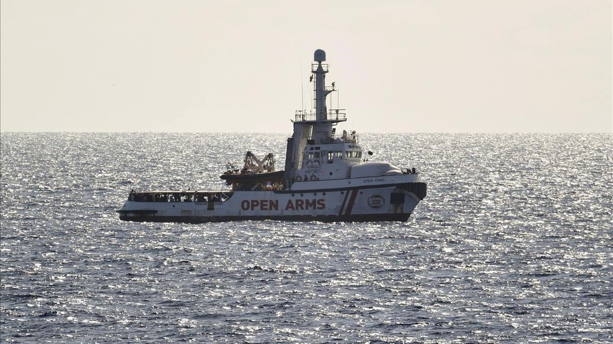 El barco 'Open Arms' en una foto de archivo.