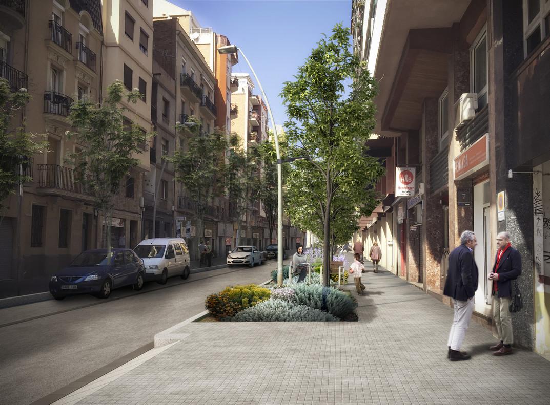 Imagen virtual de la propuesta de reforma en la calle de Benavent.