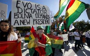 Protestas en contra del presidente de Bolivia, Evo Morales.