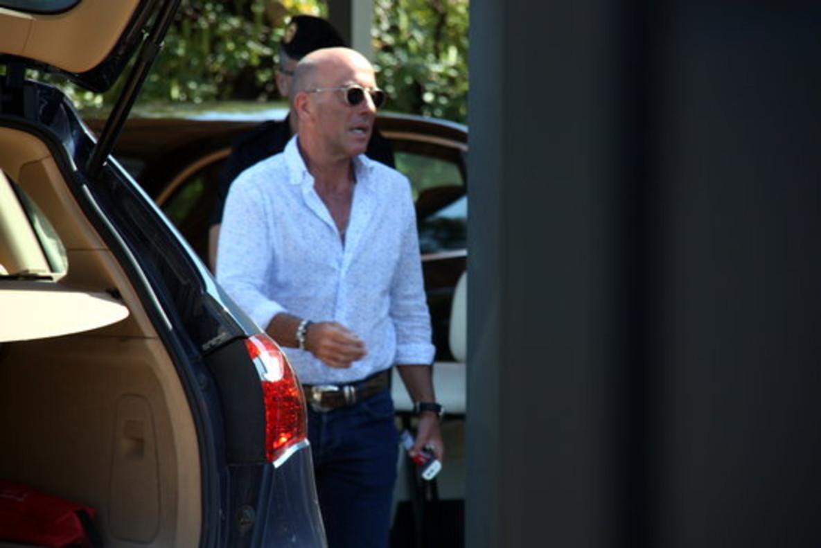 El empresario Gustavo Buesa, poco antes de ser detenido en su domicilio de Lloret.