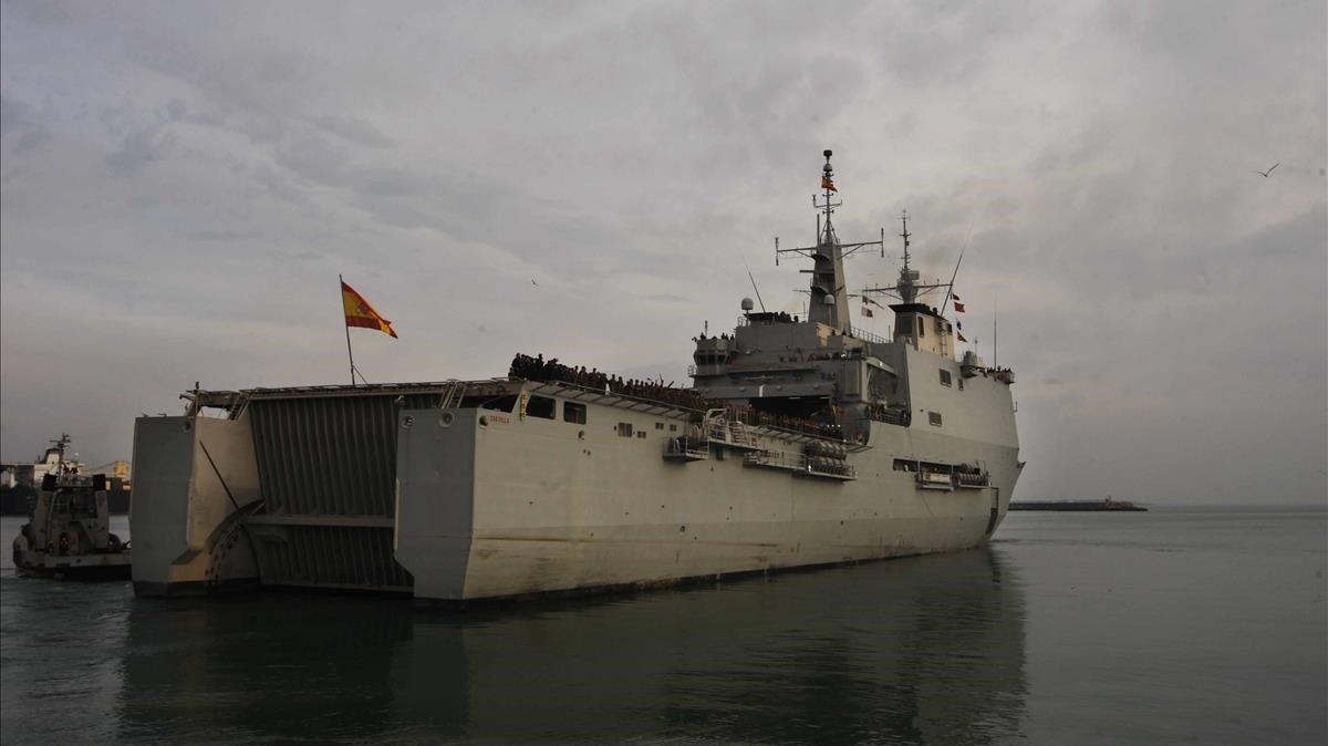 El buque de la Armada 'Castilla'.
