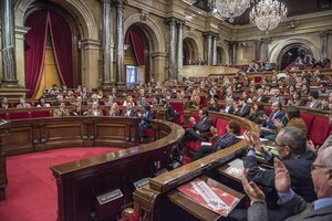 La Cámara catalana 8 Un pleno del Parlament, que ahora entra en el parón veraniego.