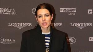 Carlota Casiraghi posa en el photocall del torneo de hípica celebrado en París, el pasado 3 de diciembre.