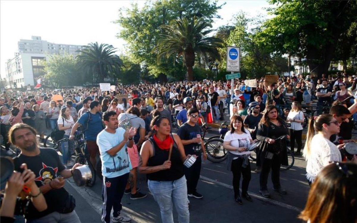Una manifestación pacífica en Chile.