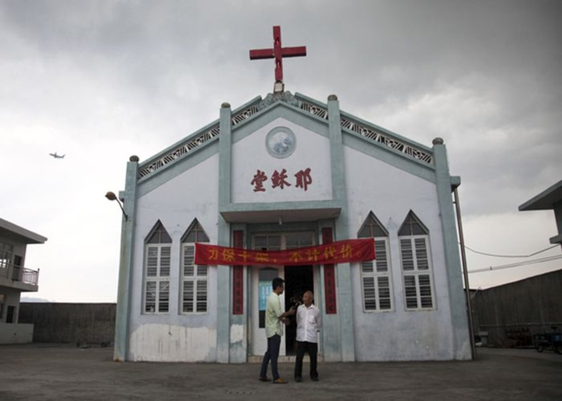 Una iglesia cristina en en la región china de Zhejiang.