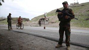 Un control de carretera en Afganistán.