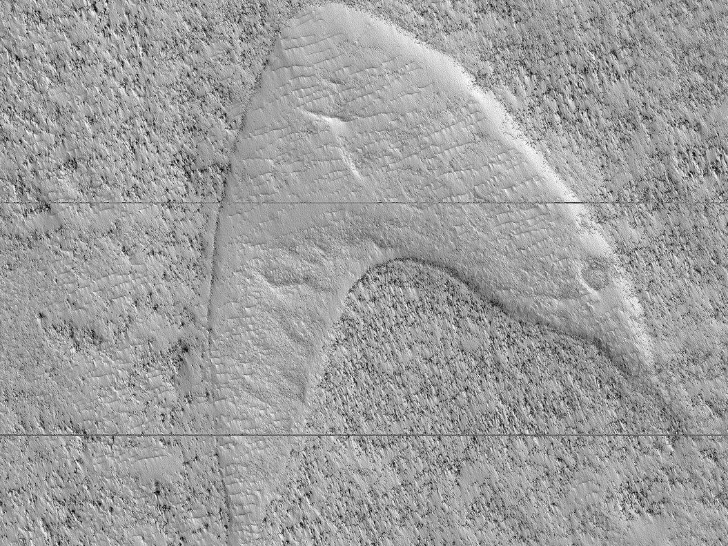 La NASA troba el símbol de Star Trek a Mart