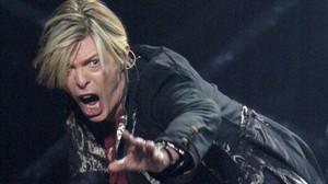 David Bowie, en Montreal, en diciembre del 2003, en uno de los conciertos de su última gira.
