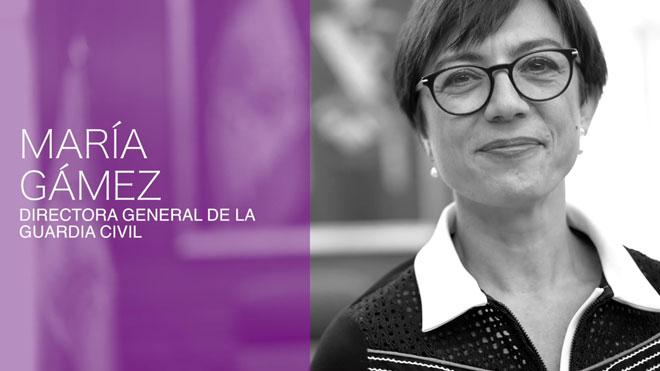 Mi hija lo tendrá más complicado que mis hijos para desenvolverse, pero ella no lo permitirá, señala la María Gámez, directora general de la Guardia Civil.