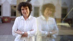 La escritora británica Jeanette Winterson, en el CCCB de Barcelona.