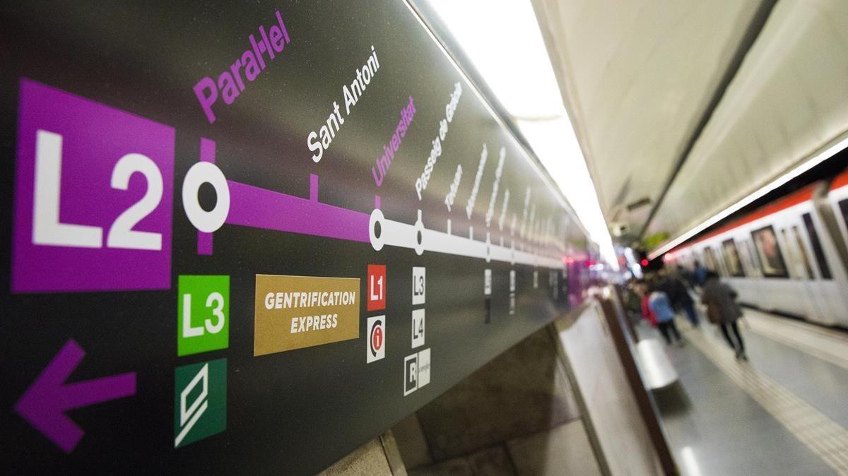 La estación de metro de Sant Antoni.