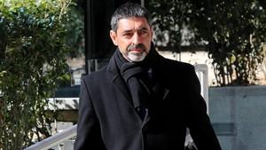 El exjefe de los Mossos abandona la Audiencia Nacional.