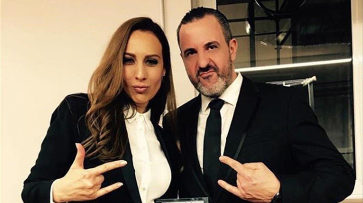 Monica Naranjo y su expareja Óscar Tarruella.