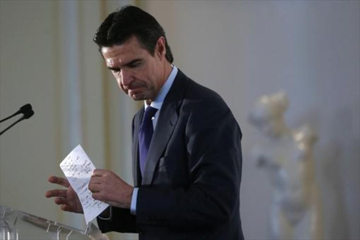 El exministro José Manuel Soria, el pasado mes de abril.