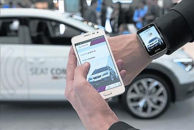 App de Seat y Samsung presentada en el Mobile World Congress.