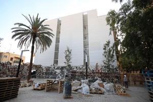 Imagen de la pared en la que Escif pintará el mural en homenaje a la lucha vecinal de Sant Feliu de Llobregat