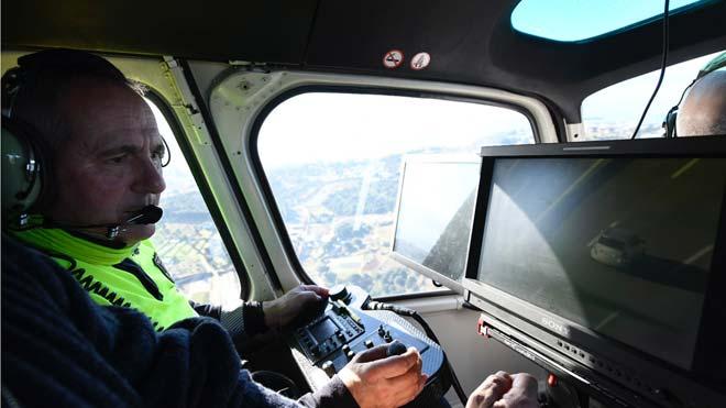 L'helicòpter de Trànsit caça 11 infractors en hora i mitja / VÍDEO