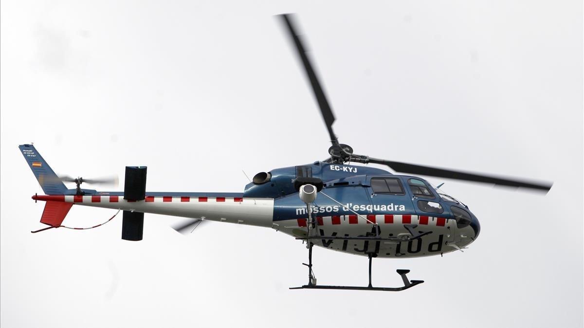 Helicóptero de los Mossos d'Esquadra.