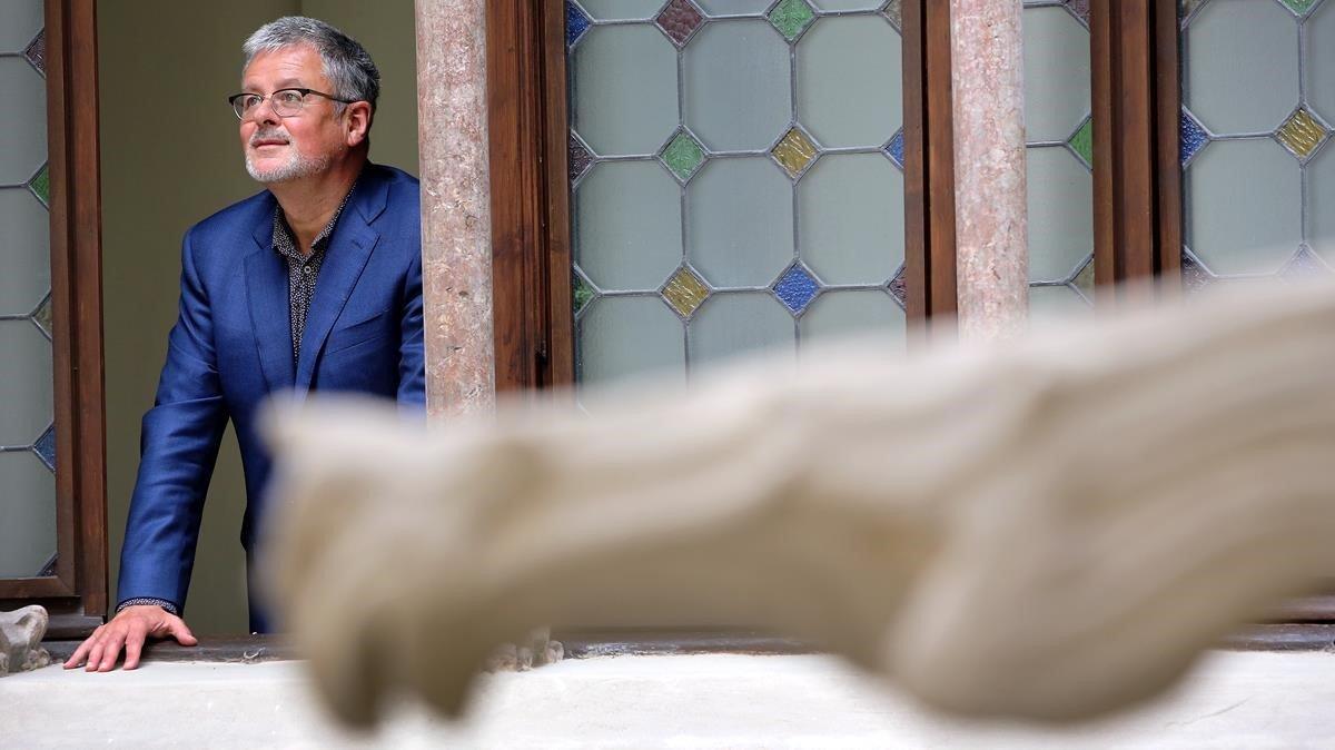 El historiador Christopher Clark, autor de 'Tiempo y poder', en el Palau Macaya de Barcelona, este otoño.