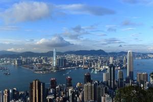 Vista aérea de Hong Kong.